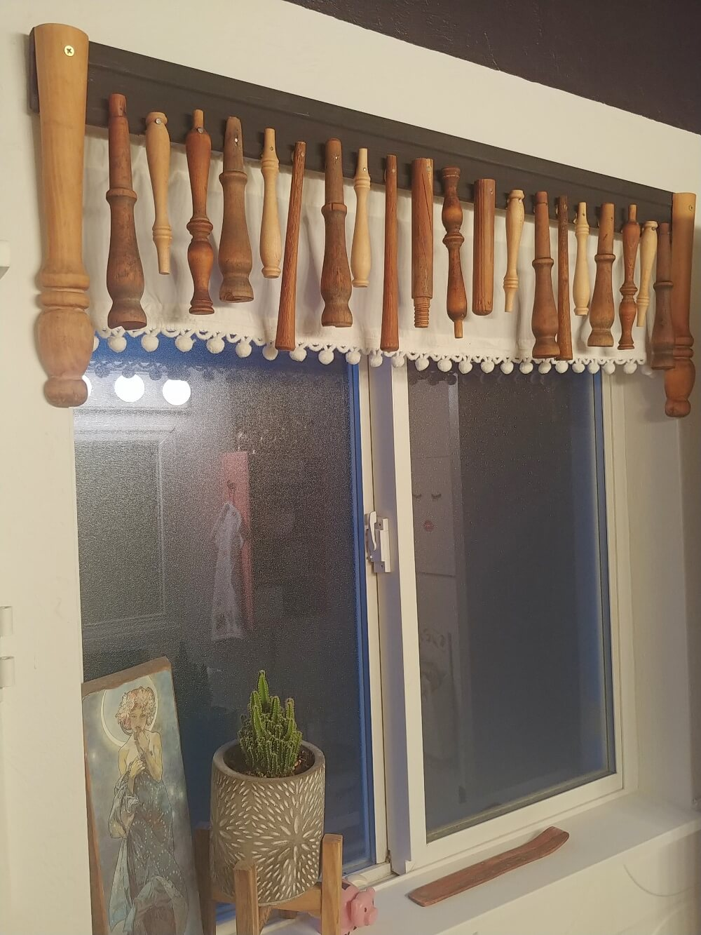 Repurposed Spindle Valance