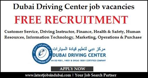 Dubai Driving Center job vacancies