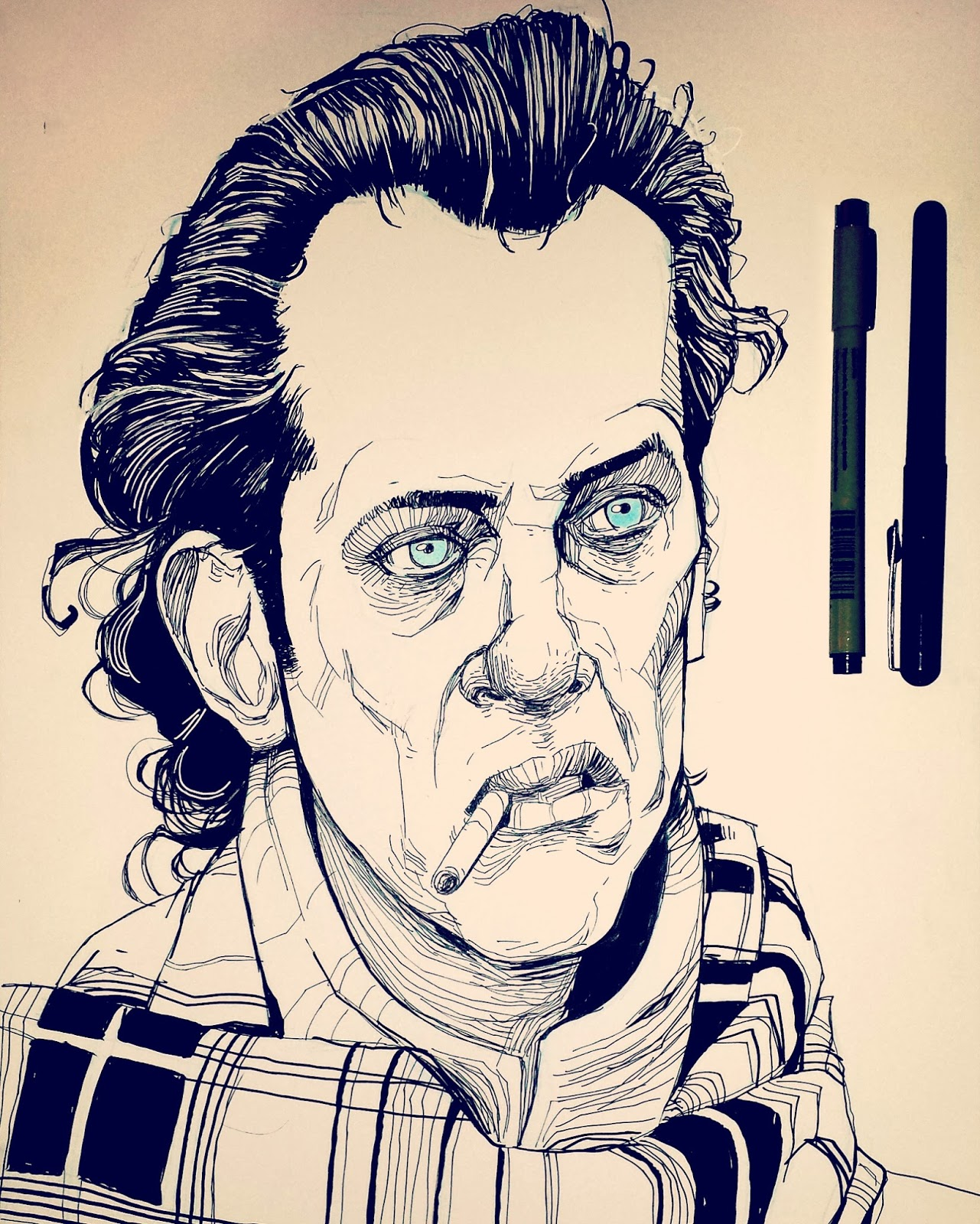 Withnail and I Richard E Grant drawing