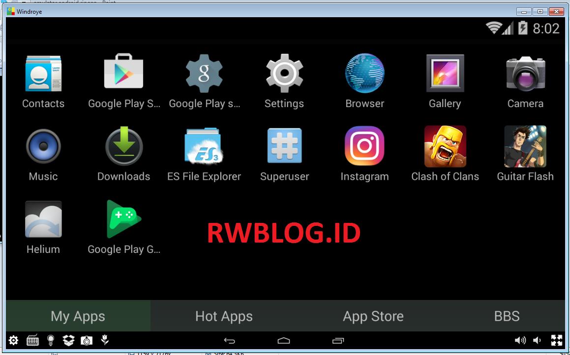 Emulator Android Ringan Untuk Komputer Spek Rendah RWBLOG