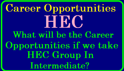 What will be the Career Opportunities if we take the HEC Group in Intermediate? What career options are present for a person who opted CEC and HEC groups in Intermediate | Career options after 12th(HEC)? | Career with HEC… Best courses with Economics | what-will-be-career-opportunities-if-we-take-HEC-group-in-intermediate Here we are providing a pdf in which complete information will be there regarding courses to be taken if we choose HEC group in Intermediate and also information about the career opportunities , what type of jobs we can choose if we take HEC Group in Intermediate/2019/05/what-will-be-career-opportunities-if-we-take-HEC-group-in-intermediate.html