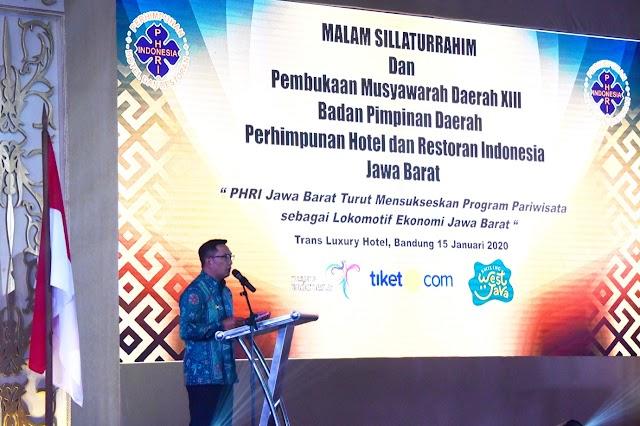 Musda BPD PHRI Jabar, Gubernur Emil :  Jadikan  Pariwisata  Bisnis Kebahagiaan