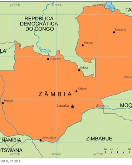 Países do Continente Africano: Zâmbia