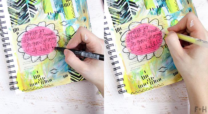 Bright Spring Art Journal Tutorial with DecoArt - Fox + Hazel