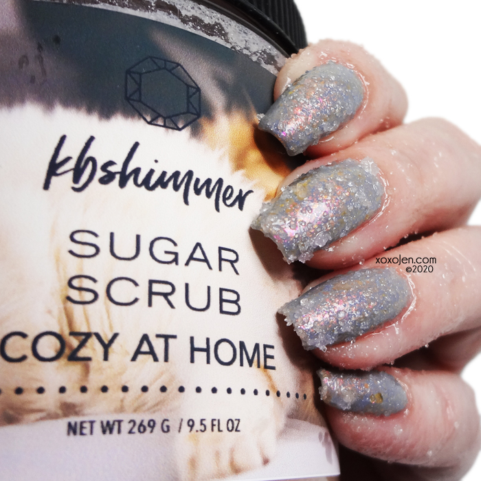 xoxoJen's swatch of KBShimmer Cozy At Home sugar scrub