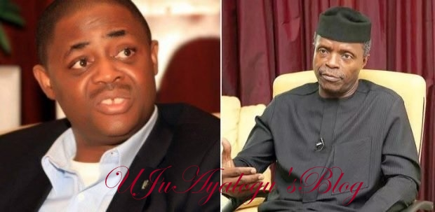'Osinbajo liar from hell' – Fani-Kayode, Shehu Sani reacts as VP says kidnapping exaggerated in Nigeria