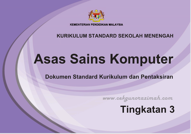 dskp asas sains komputer, dskp ask tingkatan 3, download dskp