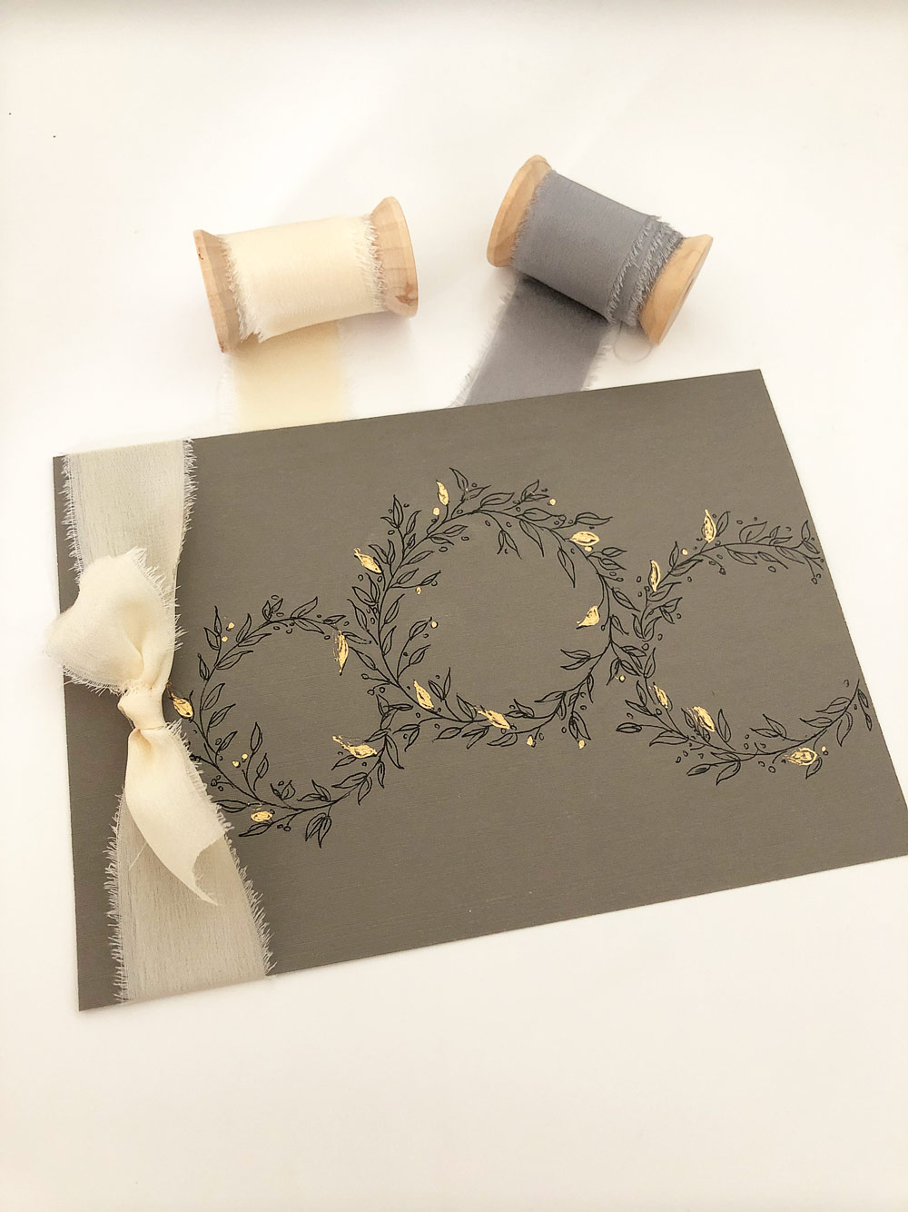 Gold Foiling on Season's Greeting Cards