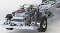 Electric truck chassis from SEA Automotive in Australia (Credit: SEA) Click to Enlarge.