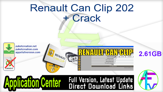 Renault Can Clip 202 + Crack
