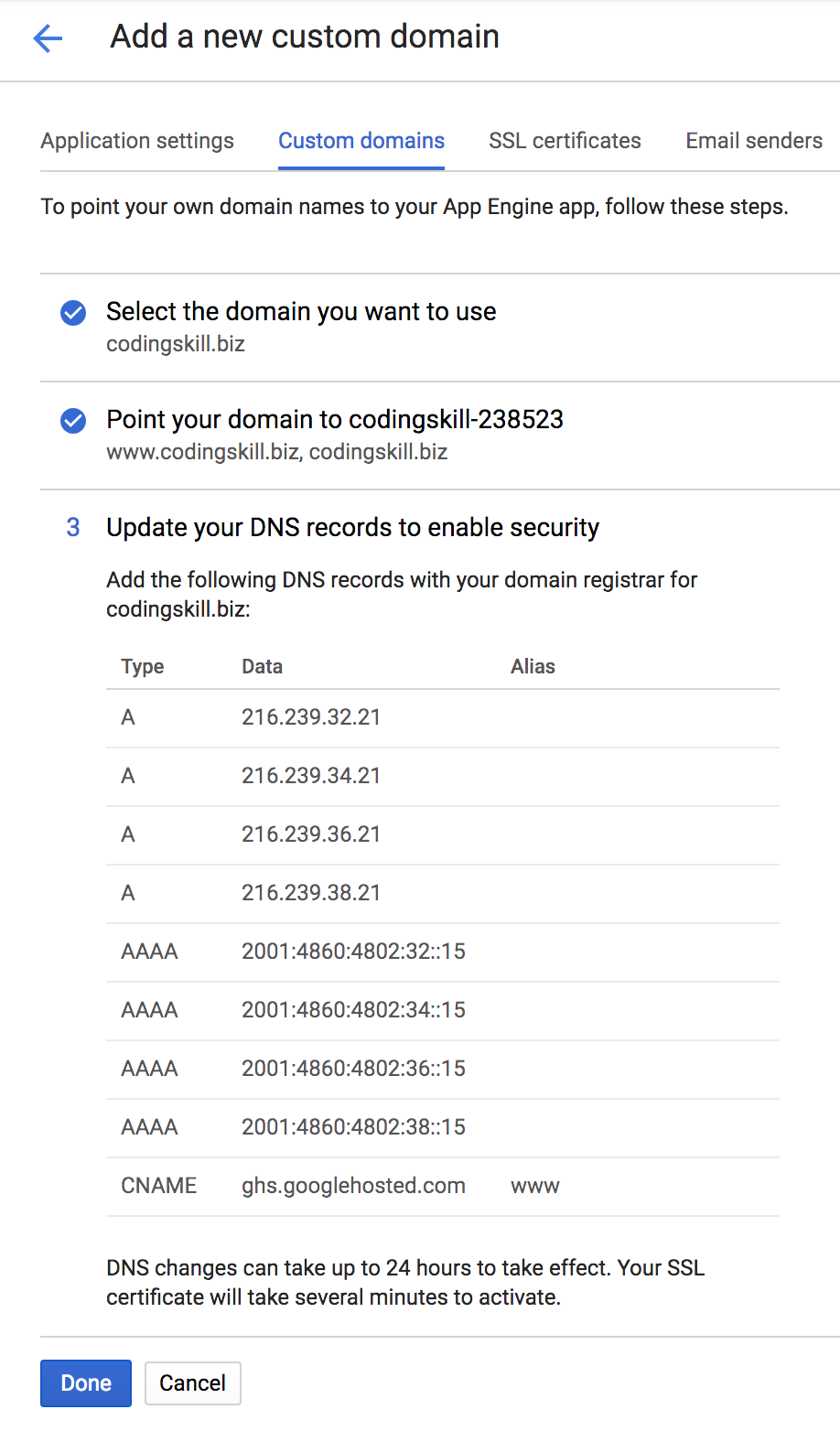 Updating DNS Records