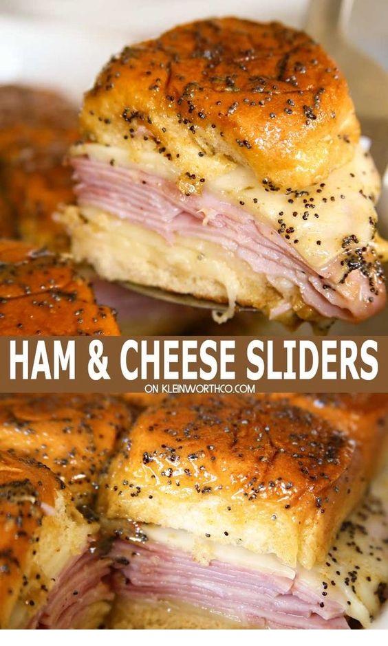 Poppy Seed Ham and Cheese Sliders