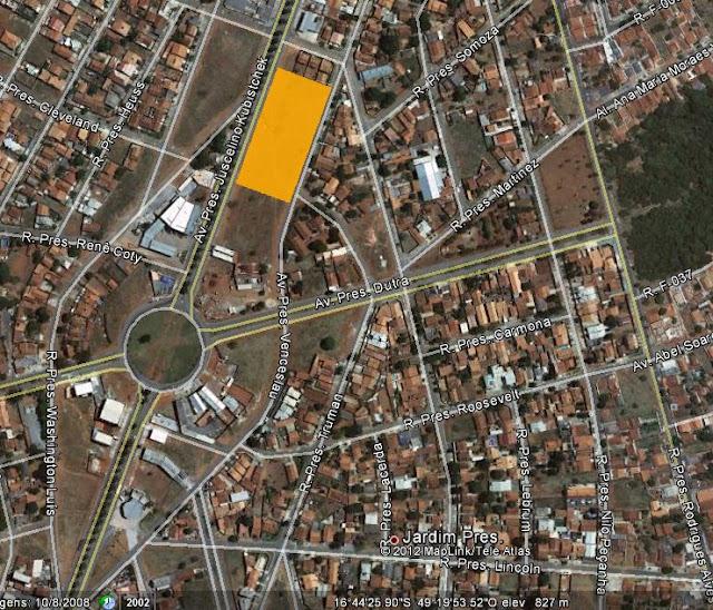 Area para incorporacao vertical com projeto aprovado a venda