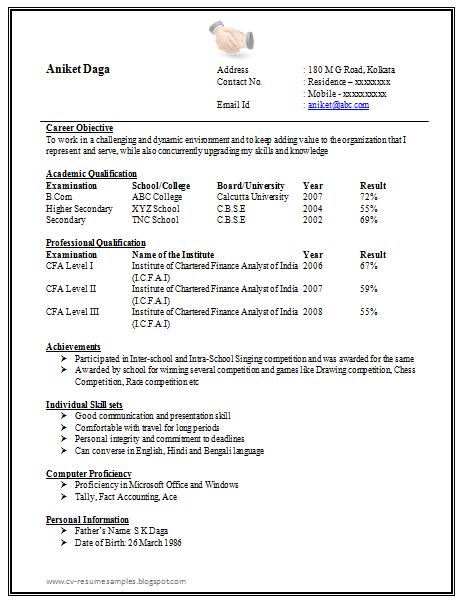 it fresher resume sample doc resume format sample doc resume