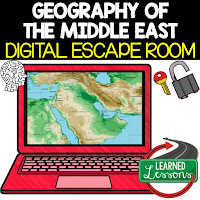Middle East Escape Room Middle East Geography Vocabulary Activity  Mapping the Middle East Activity Physical Geography of the Middle East Activity Key Facts About the Middle East Activity Timeline of Middle Eastern History Activity