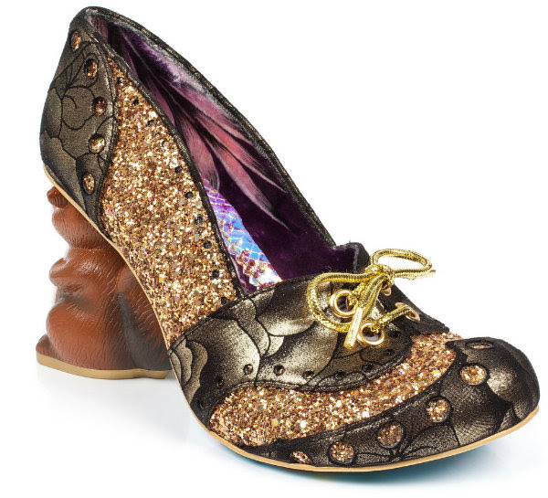 Irregular Choice secret squirrel gold