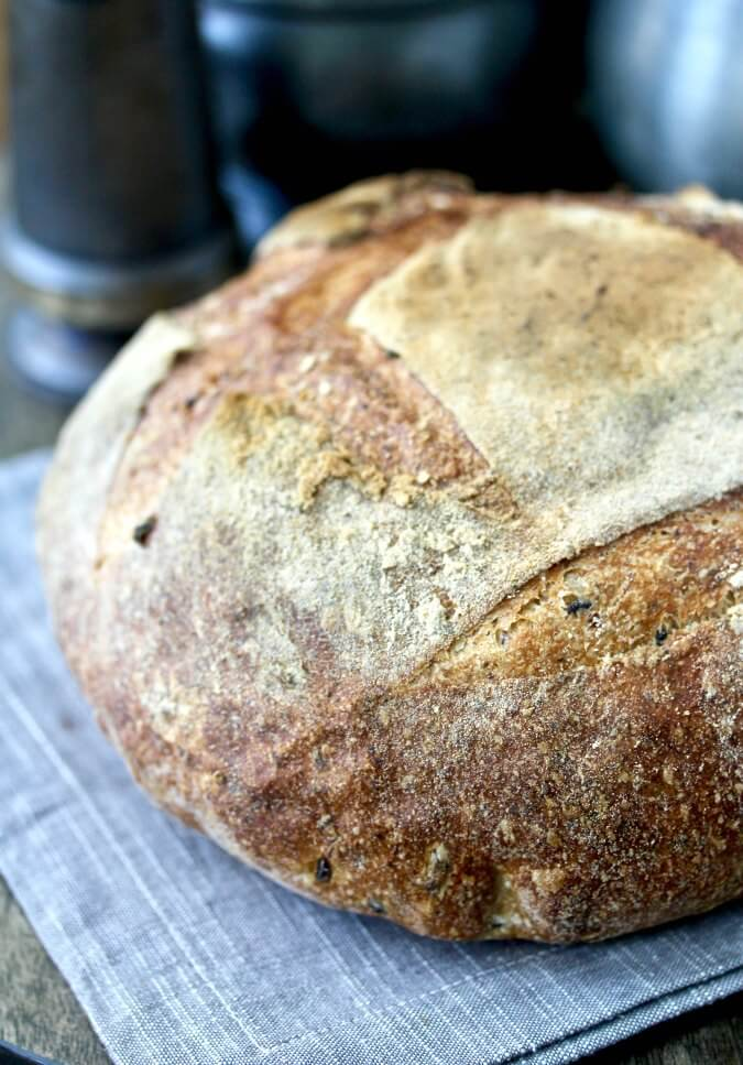 Wild Rice and Flax Seed Bread artisan loaf