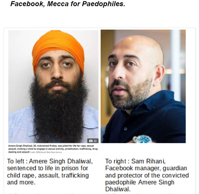 Facebook, Mecca for paedophiles.