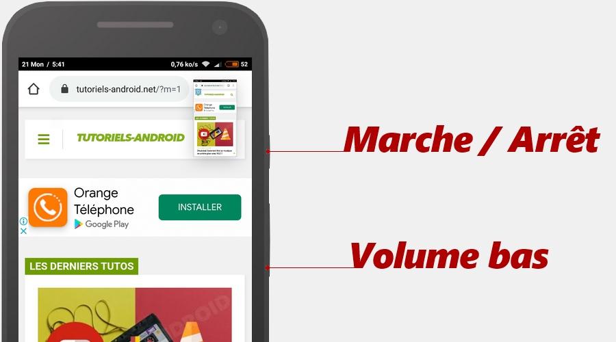 Prendre capture écran sur Motorola
