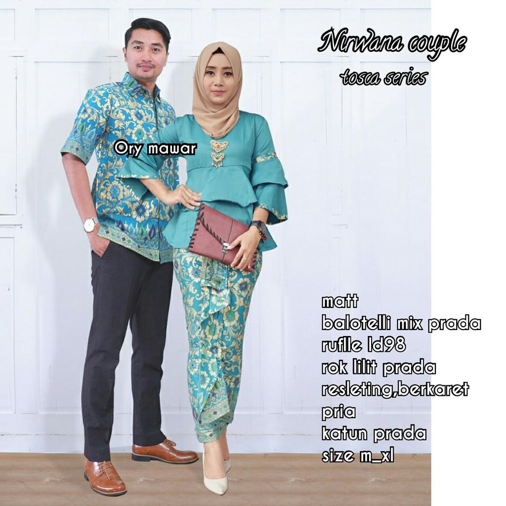 Batik Couple Lonceng Nirwana Ruffle