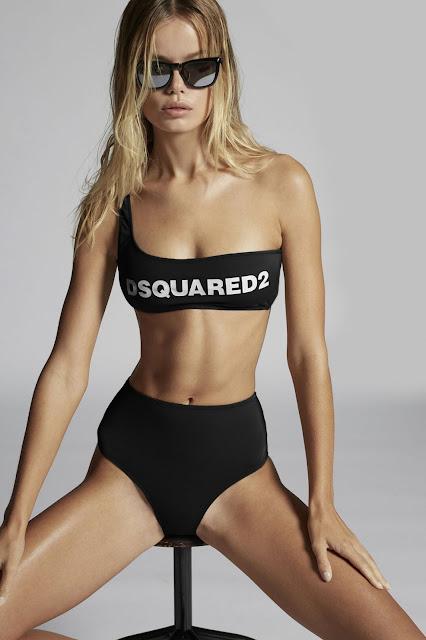 Frida Aasen for Dsquared2 Swimwear 2021
