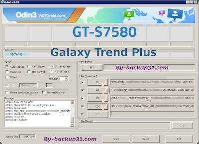سوفت وير هاتف Galaxy Trend Plus موديل GT-S7580 روم الاصلاح 4 ملفات تحميل مباشر