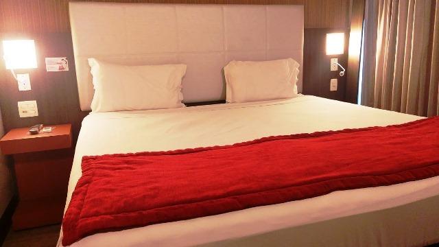 O meu confortável quarto no Ramada Hotel Recreio Shopping