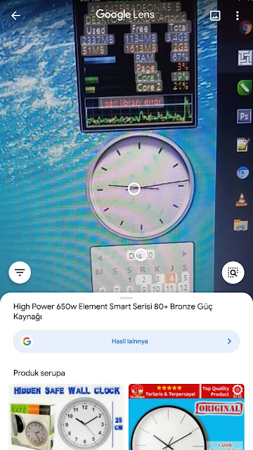 Aplikasi  Foto Pendeteksi Gambar  (Aplikasi Google Lens)