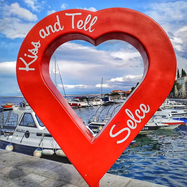 Kiss and tell Selce, serce, zdjęcie, północna cześć Chorwacji