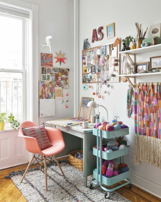 A Beautifully Apartment Split Between Work & Home Life