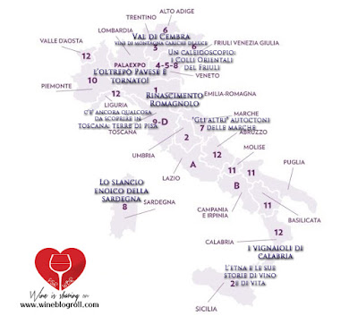 cartina vinitaly regioni padiglioni
