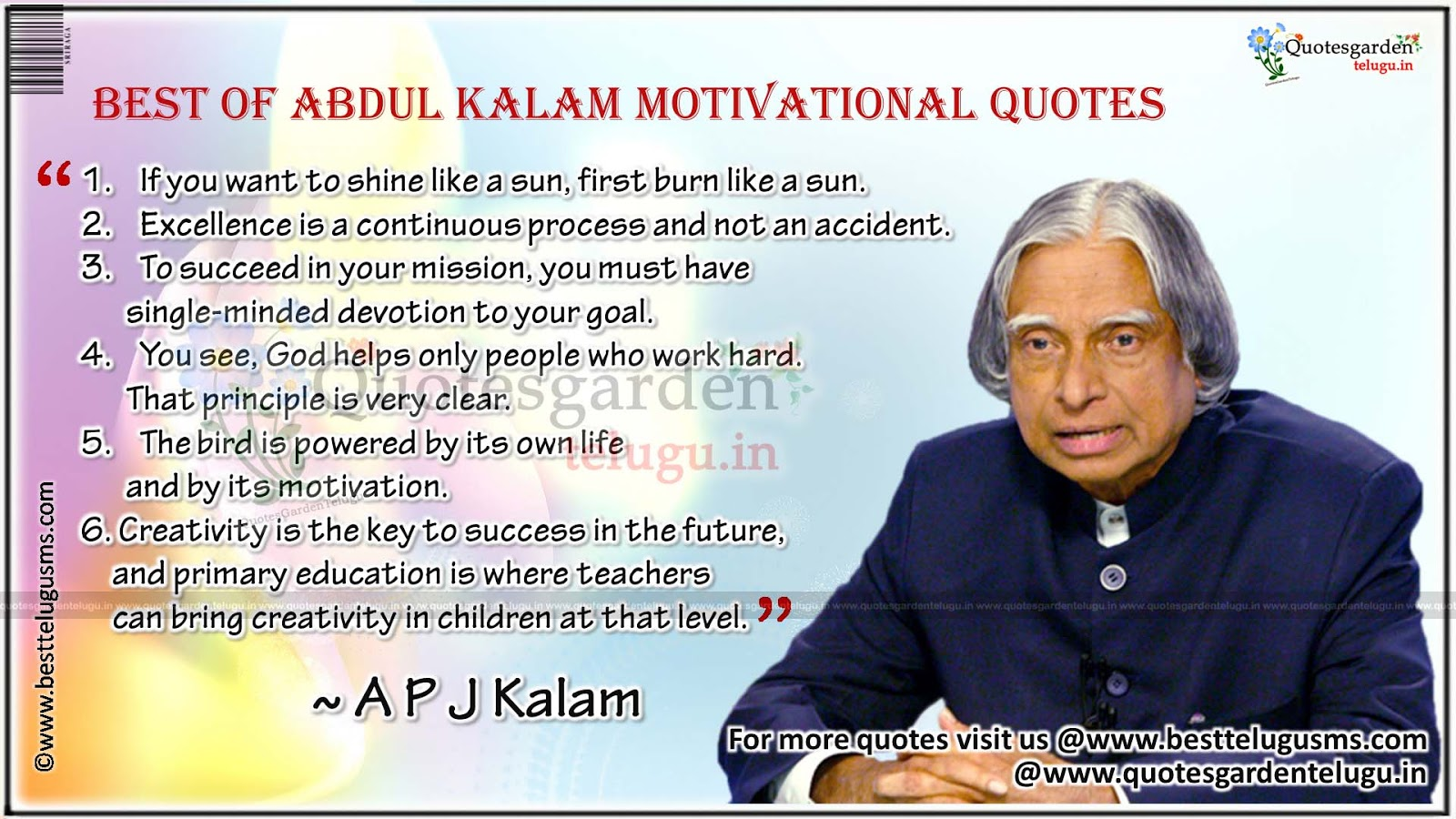 Best 10 Motivational Quotes From Abdul Kalam