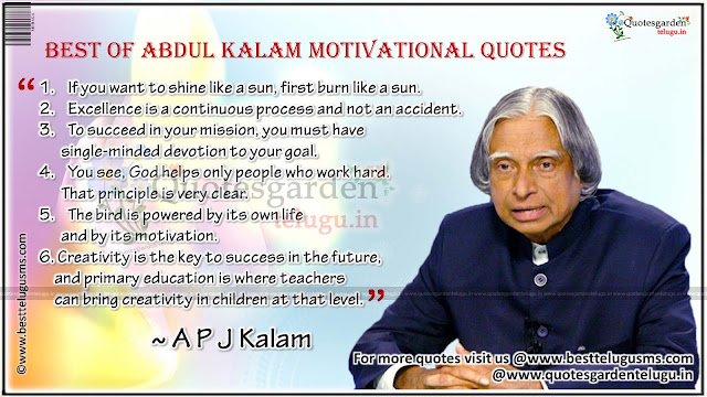 Best of Abdul Kalam Motivational quotes