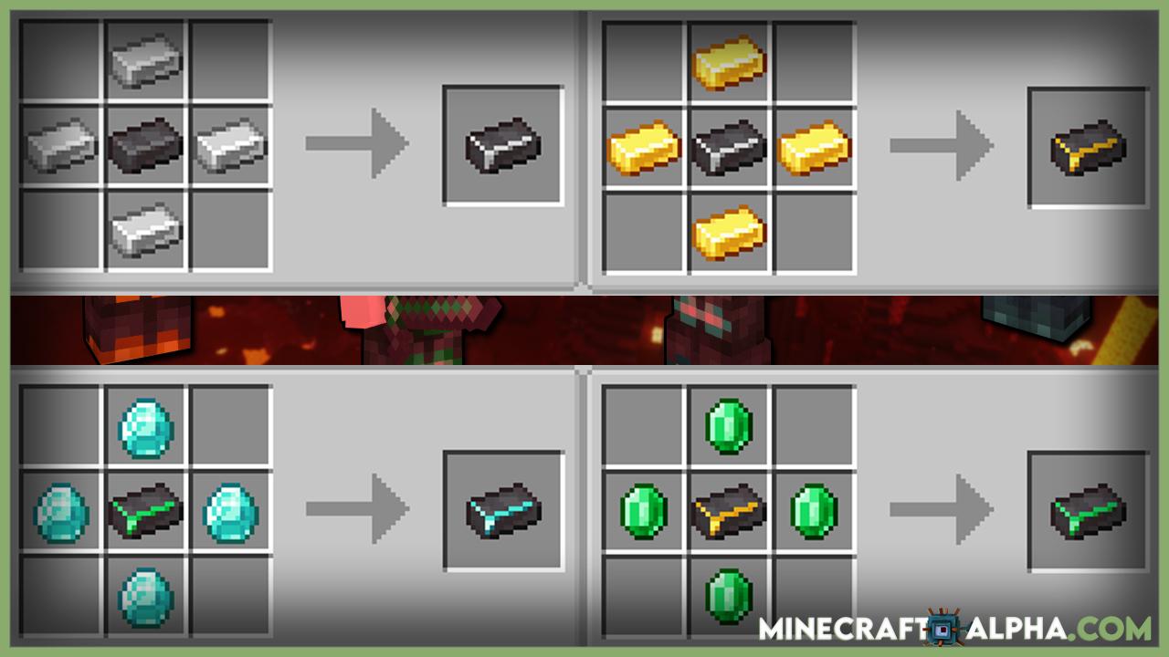 Minecraft Advanced Netherite Mod Crafting Recipes