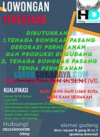 Lowongan Pekerjaan di Hilmy Decoration Surabaya Terbaru November 2019