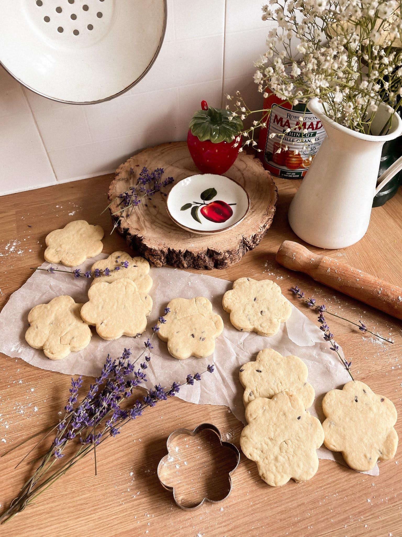 Lavender Shortbread Biscuit Recipe