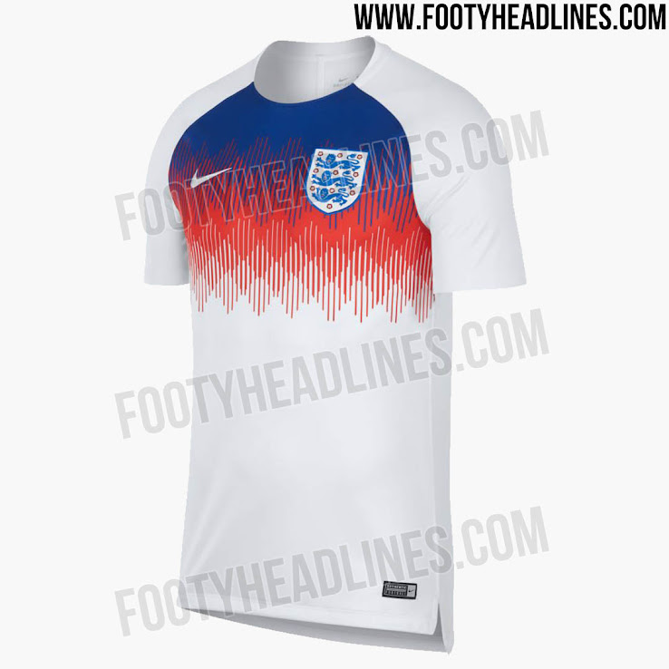 ca6da85b579 Awesome England 2018 World Cup Pre-Match Jersey Released - Footy ...