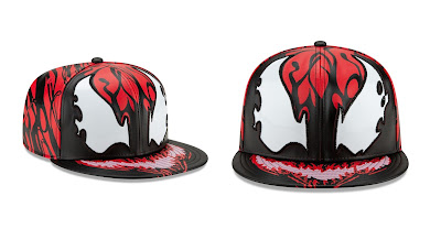 Super Hero Stuff Exclusive Carnage Big Face 59Fifty Fitted Hat by New Era Cap x Marvel Comics