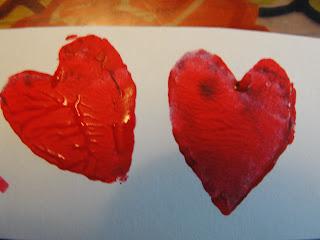 potato stamped heart valentine's