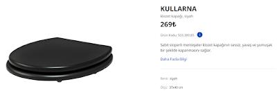 IKEA Kullarna Klozet Kapağı ve Akvaryum Silikon