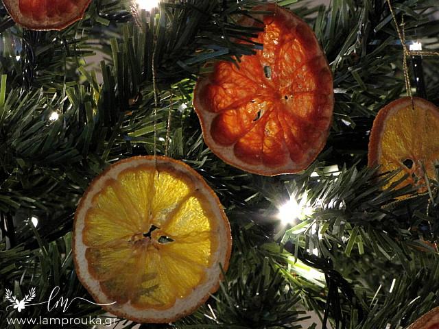 Diy αποξηραμένα φρούτα για χριστουγεννιάτικα στολίδια.