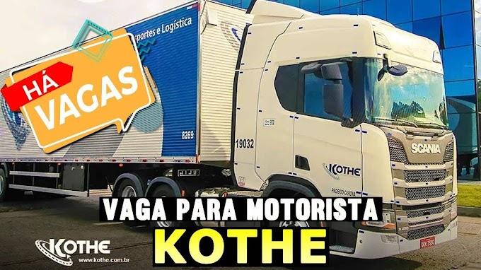 Transportadora Kothe abre vagas para motorista carreteiro em todo Brasil