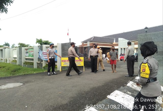 Polres Majalengka Gelar Opsgab Yustisi Penegakan Disiplin Prokes Terhadap Pengguna Jalan