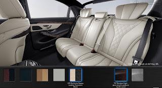 Nội thất Mercedes S450 L Luxury 2018 màu Vàng Porcelain 515
