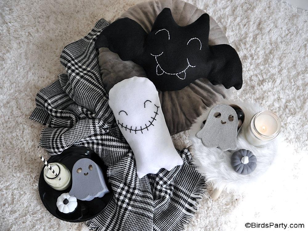 DIY Coussins d'Halloween Trop Mignons à faire soi-même - coussins décoratifs faciles à fabriquer pour décorer votre maison ou chambre!