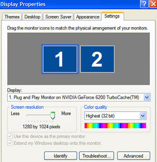 Cara Menggunakan 2 Monitor dalam 1 Komputer