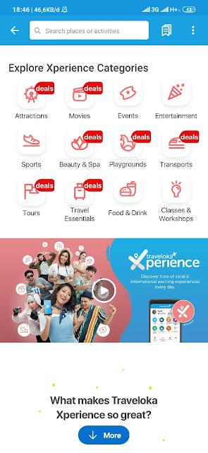 tampilan Traveloka Xperience