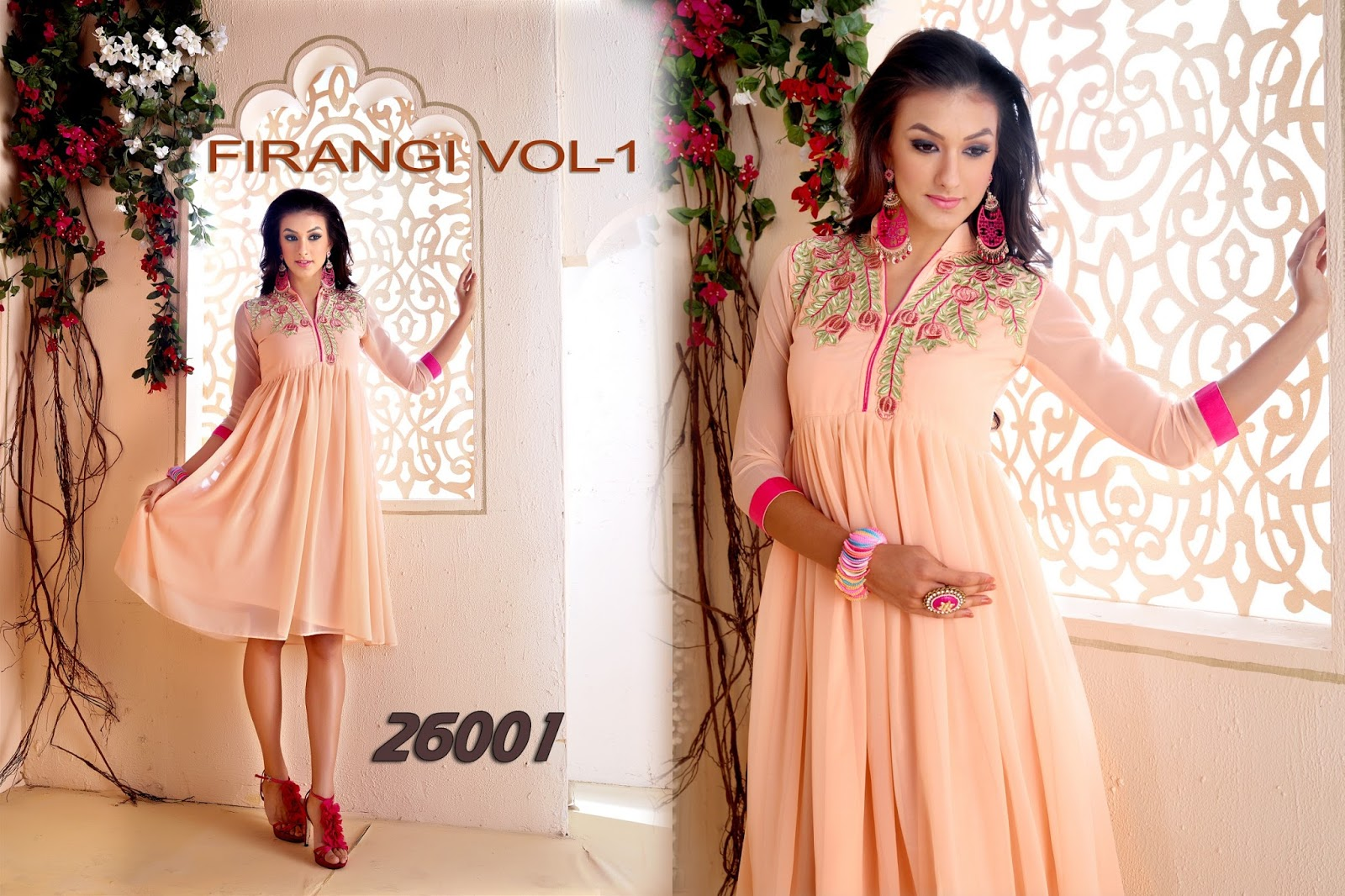 Firangi Vol 1 – Heavy Georgette Stylish And Fancy Designer Kurti