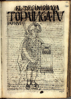 Túpac Yupanqui, dibujo de Felipe Guamán Poma de Ayala