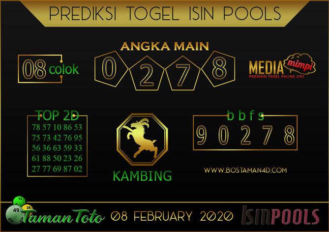 Prediksi Togel ISIN TAMAN TOTO 08 FEBRUARY 2020